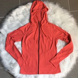 Lucy Coral Hooded Full Zip Jacket